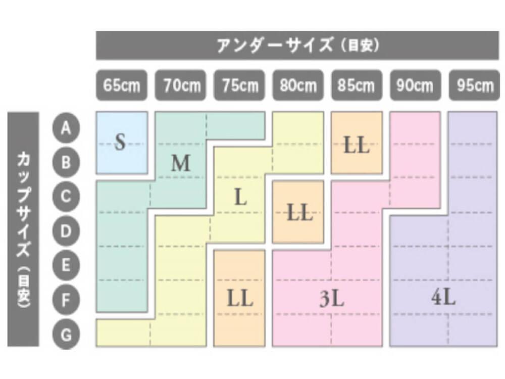ジニエレーシィブラのサイズ表
