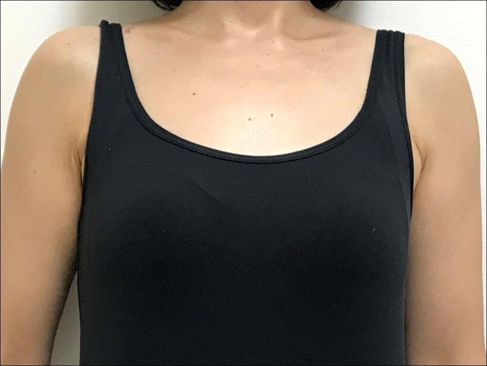 ルルクシェルのナイトブラ/くつろぎ育乳ブラを着用する前の